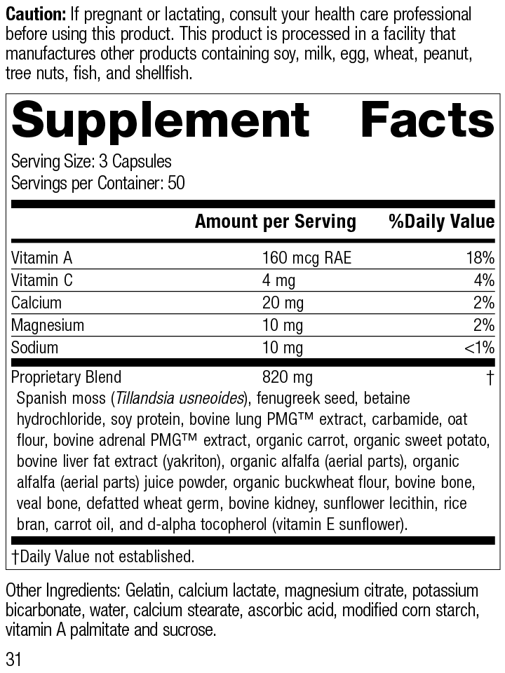 Allerplex®, 150 Capsules, Rev 31 Supplement Facts