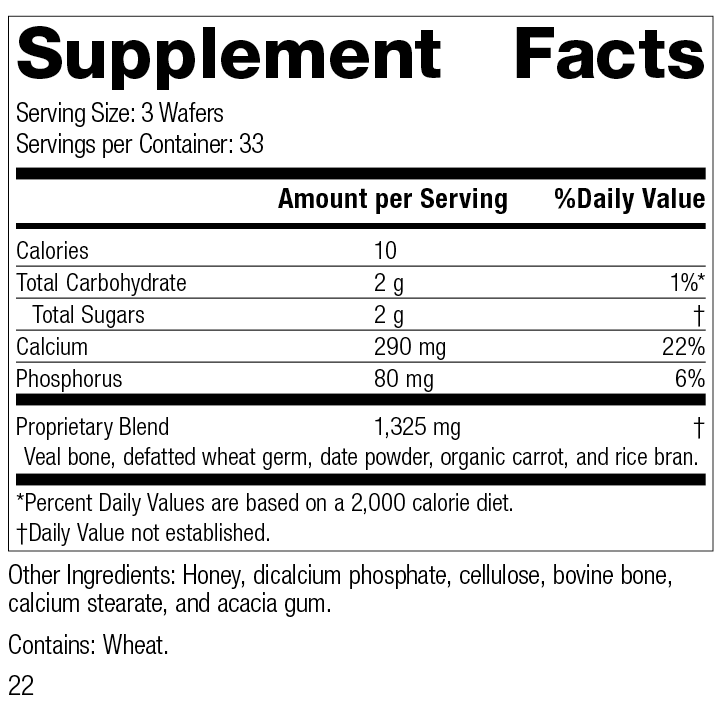 Calcifood®, 100 Wafers, Rev 22 Supplement Facts