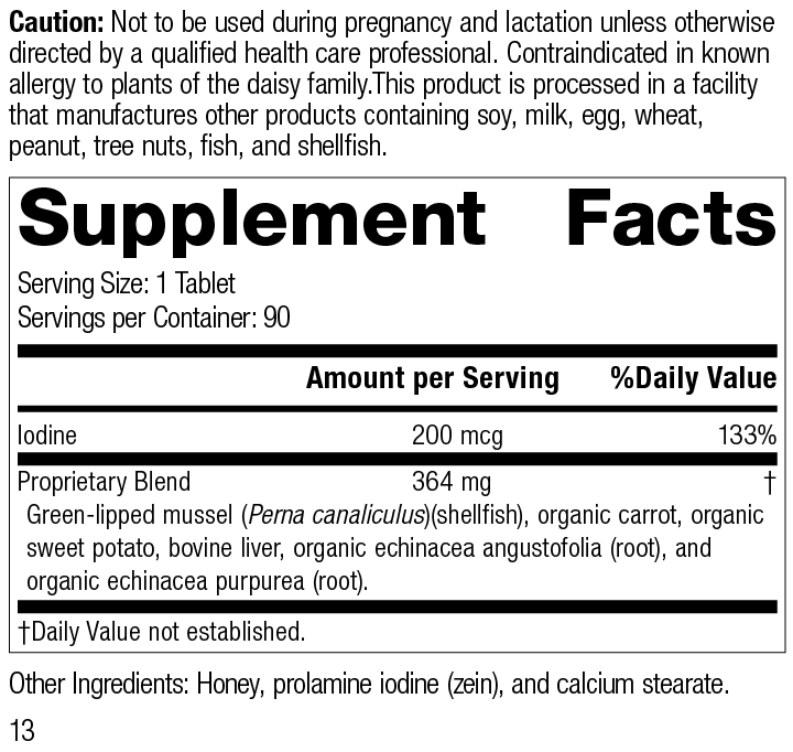 Nutrition Label for Iodomere®