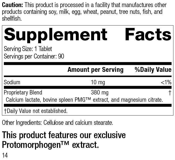 Spleen PMG®, 90 Tablets, Rev 14 Supplement Facts