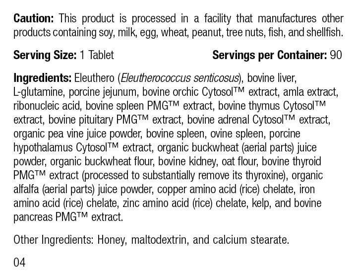 Feline Immune System Support, 90 Tablets, Rev 04 Supplement Facts