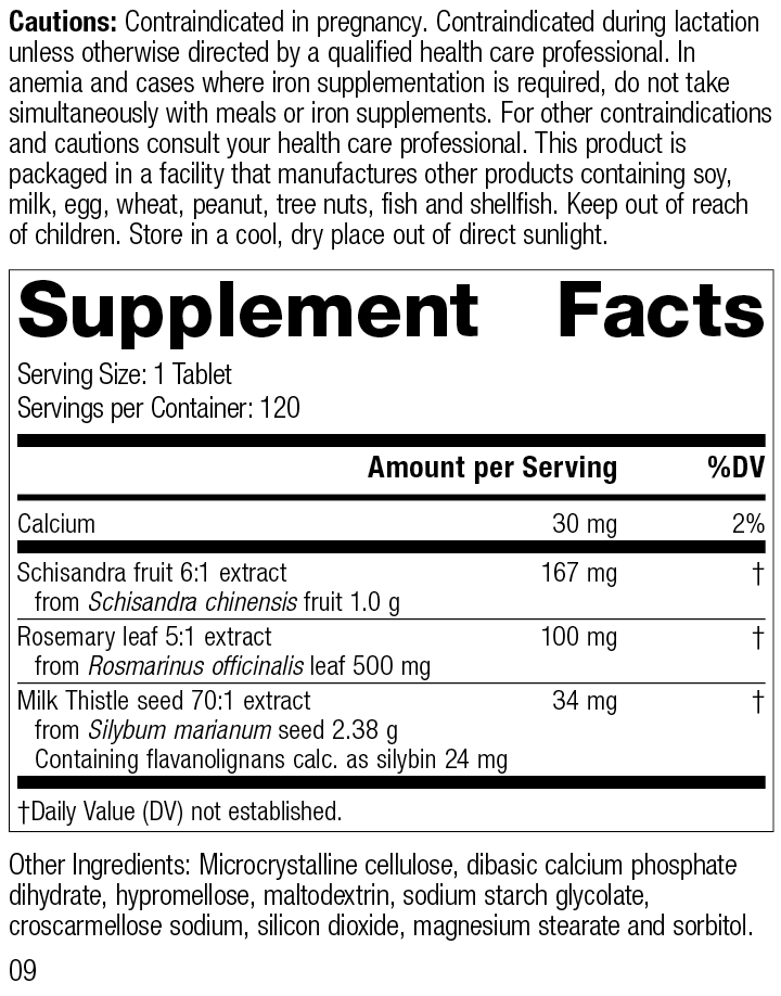 LivCo®, 120 Tablets, Rev 09 Supplement Facts