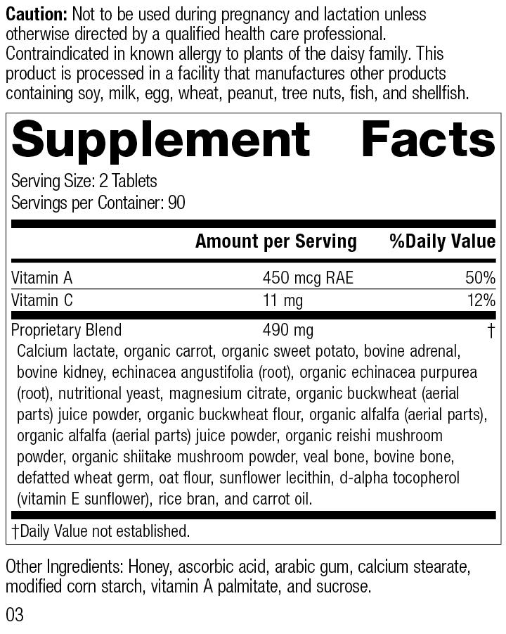 Cataplex A-C, Rev 03 Supplement Facts
